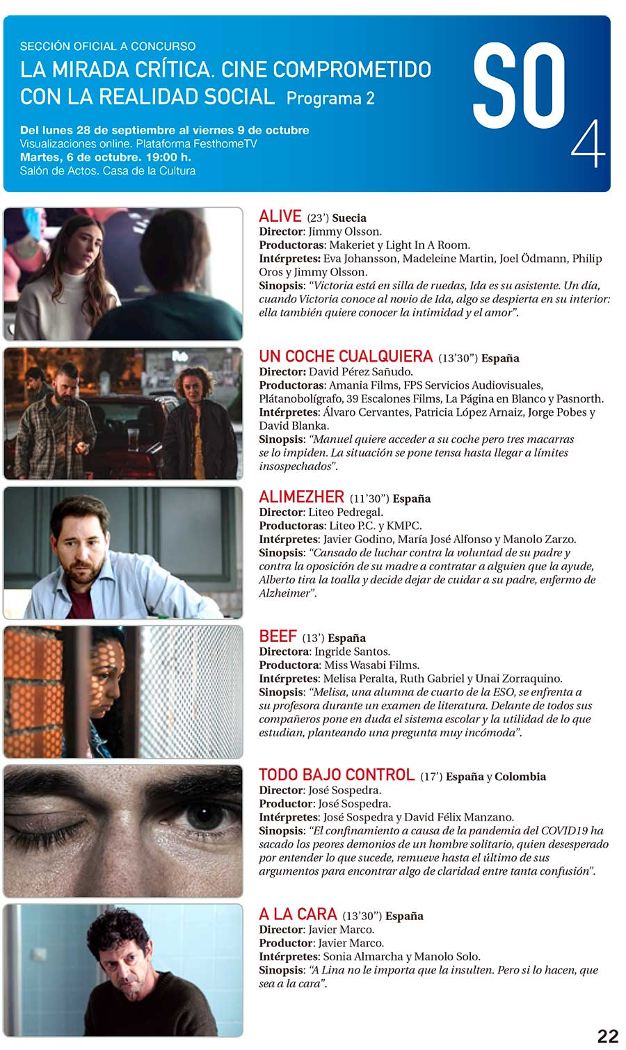 La sección La mirada crítica del Festival de Cine de Ponferrada se podrá ver el lunes y martes en la Casa de la Cultura y también online 3