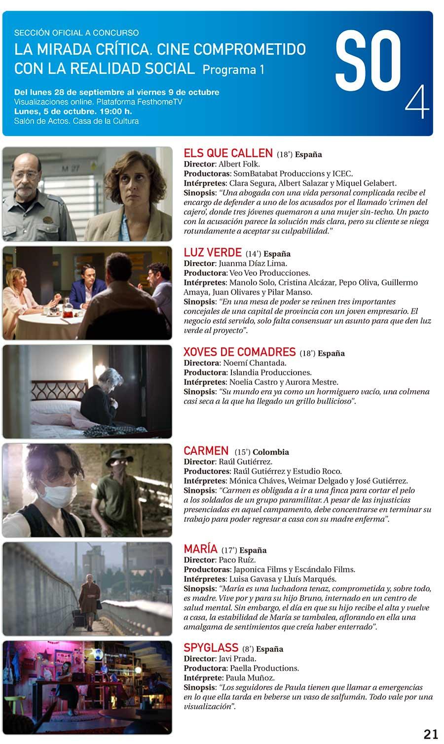 La sección La mirada crítica del Festival de Cine de Ponferrada se podrá ver el lunes y martes en la Casa de la Cultura y también online 2