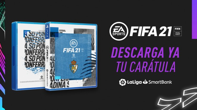 Customiza la caratula de FIFA 21 para Xbox o Playstation con la portada oficial de la Ponferradina 1