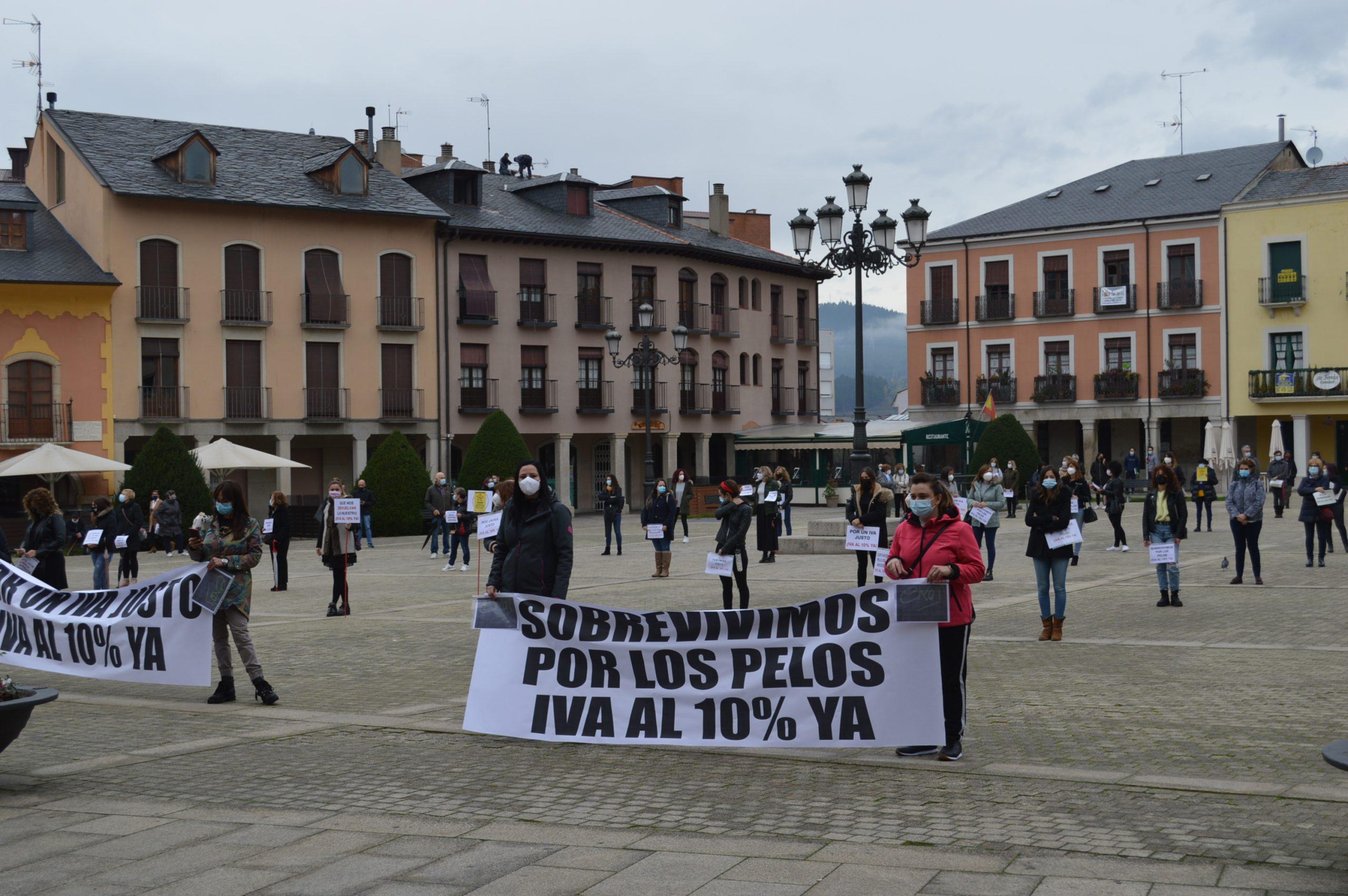 Peluquerías y centros de belleza de El Bierzo y Laciana se concentran en Ponferrada pidiendo apoyo para mantener el sector a flote 1