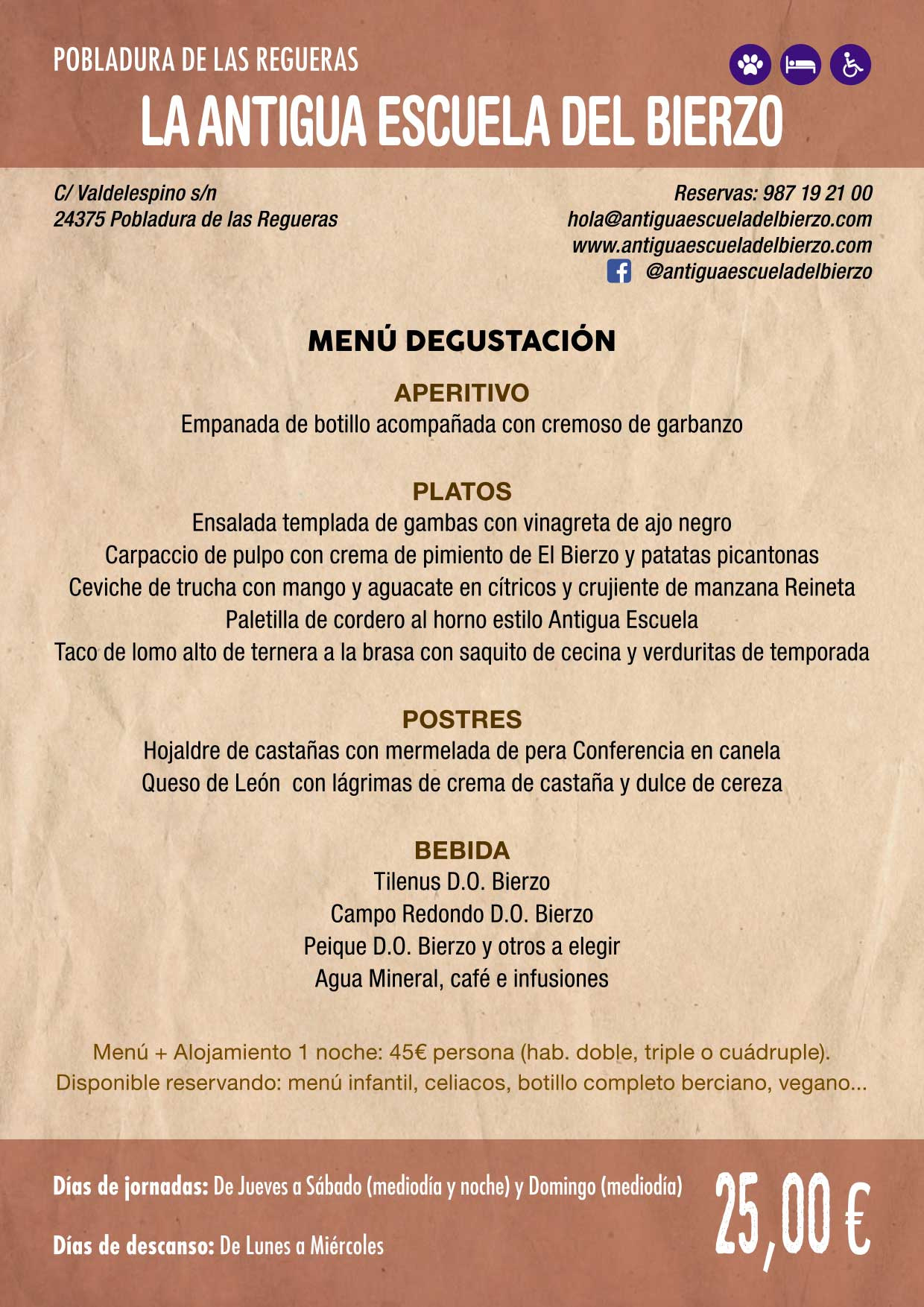 XXXVI Jornadas Gastronómicas De El Bierzo 2020. Consulta los restaurantes y menús 14