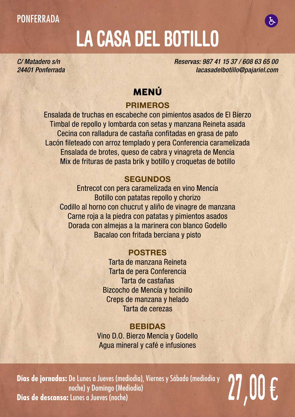 XXXVI Jornadas Gastronómicas De El Bierzo 2020. Consulta los restaurantes y menús 20