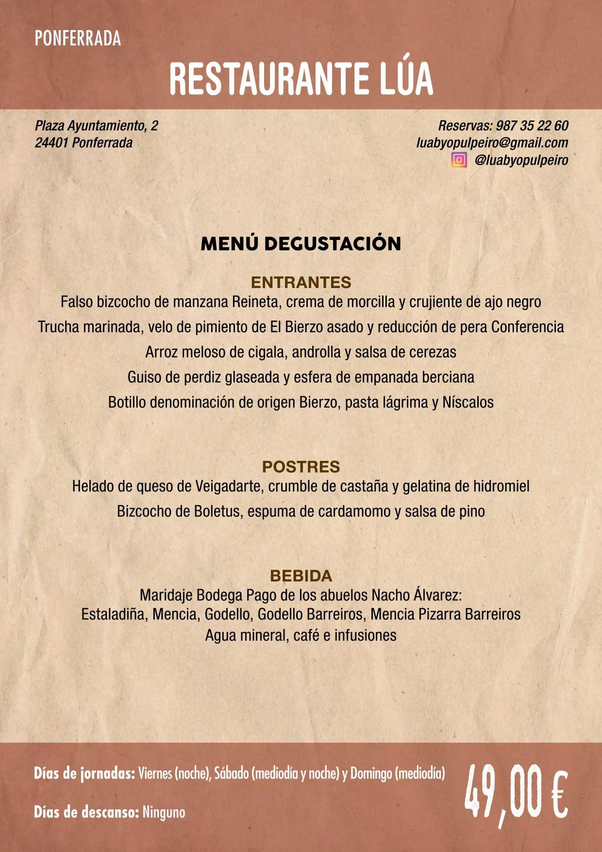 XXXVI Jornadas Gastronómicas De El Bierzo 2020. Consulta los restaurantes y menús 24
