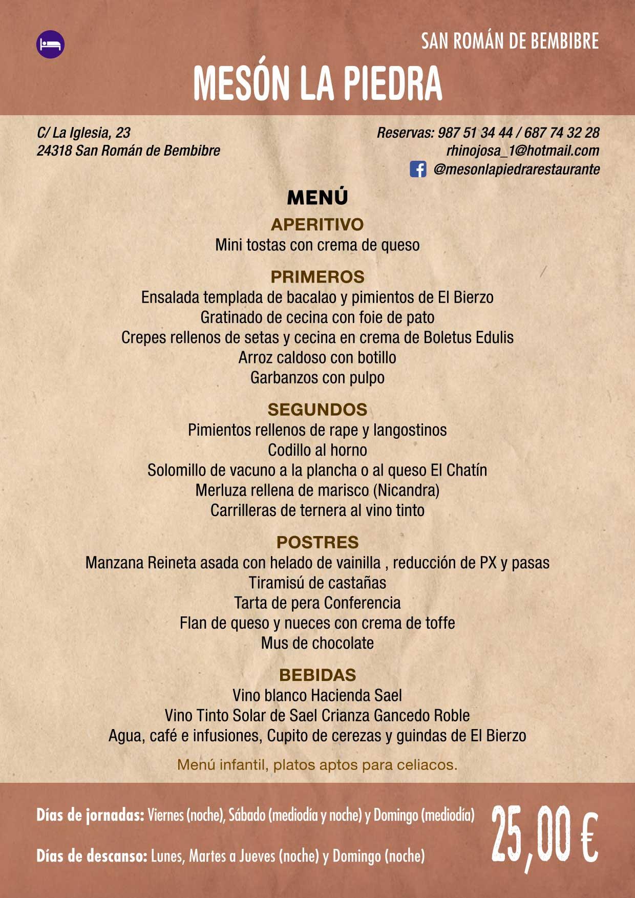 XXXVI Jornadas Gastronómicas De El Bierzo 2020. Consulta los restaurantes y menús 27