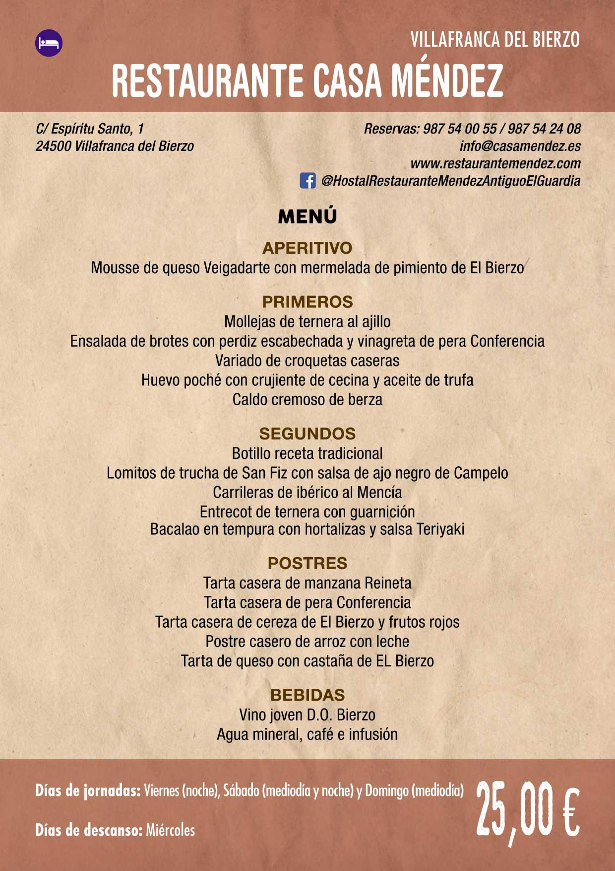 XXXVI Jornadas Gastronómicas De El Bierzo 2020. Consulta los restaurantes y menús 29