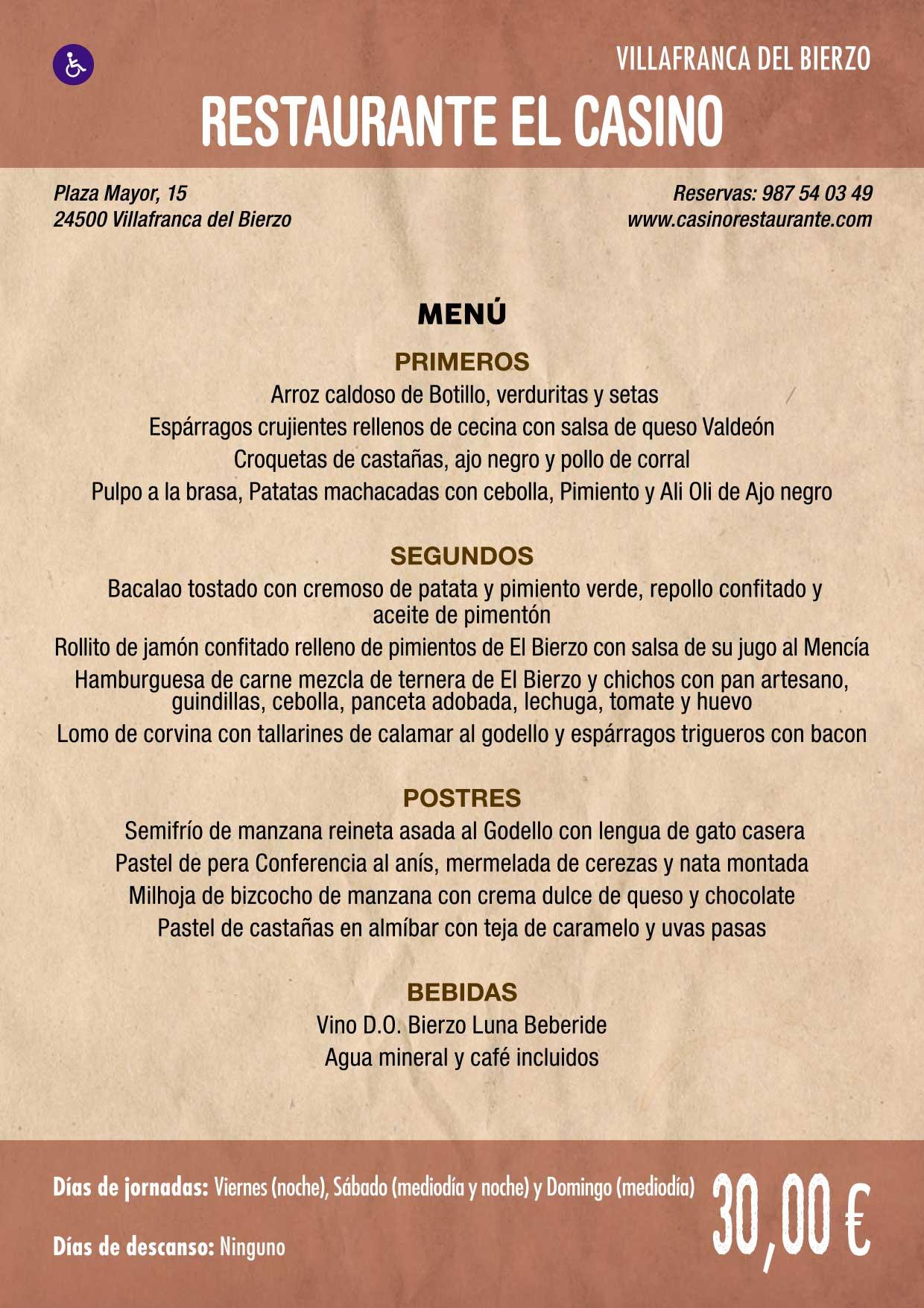 XXXVI Jornadas Gastronómicas De El Bierzo 2020. Consulta los restaurantes y menús 31