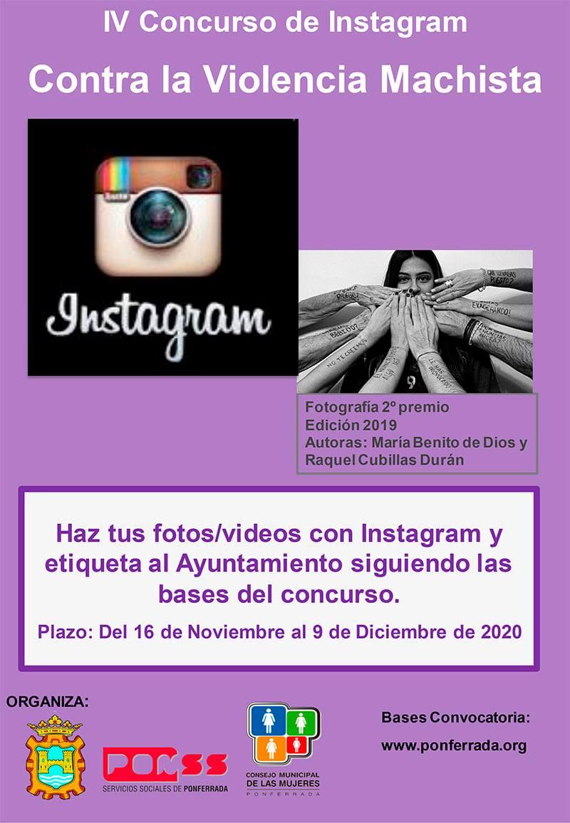 """IV edición del """"Certamen Instagram contra la violencia machista, Ayuntamiento de Ponferrada 2020"""" 1"""