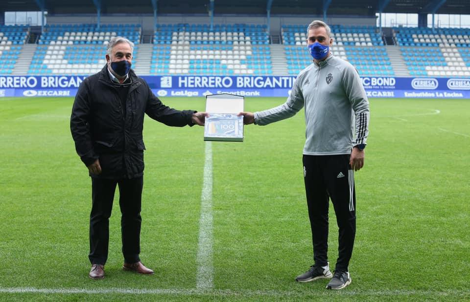 La Ponferradina celebra los 100 partidos de Bolo como entrenador y el hito de Yuri como máximo goleador de la historia del club 2