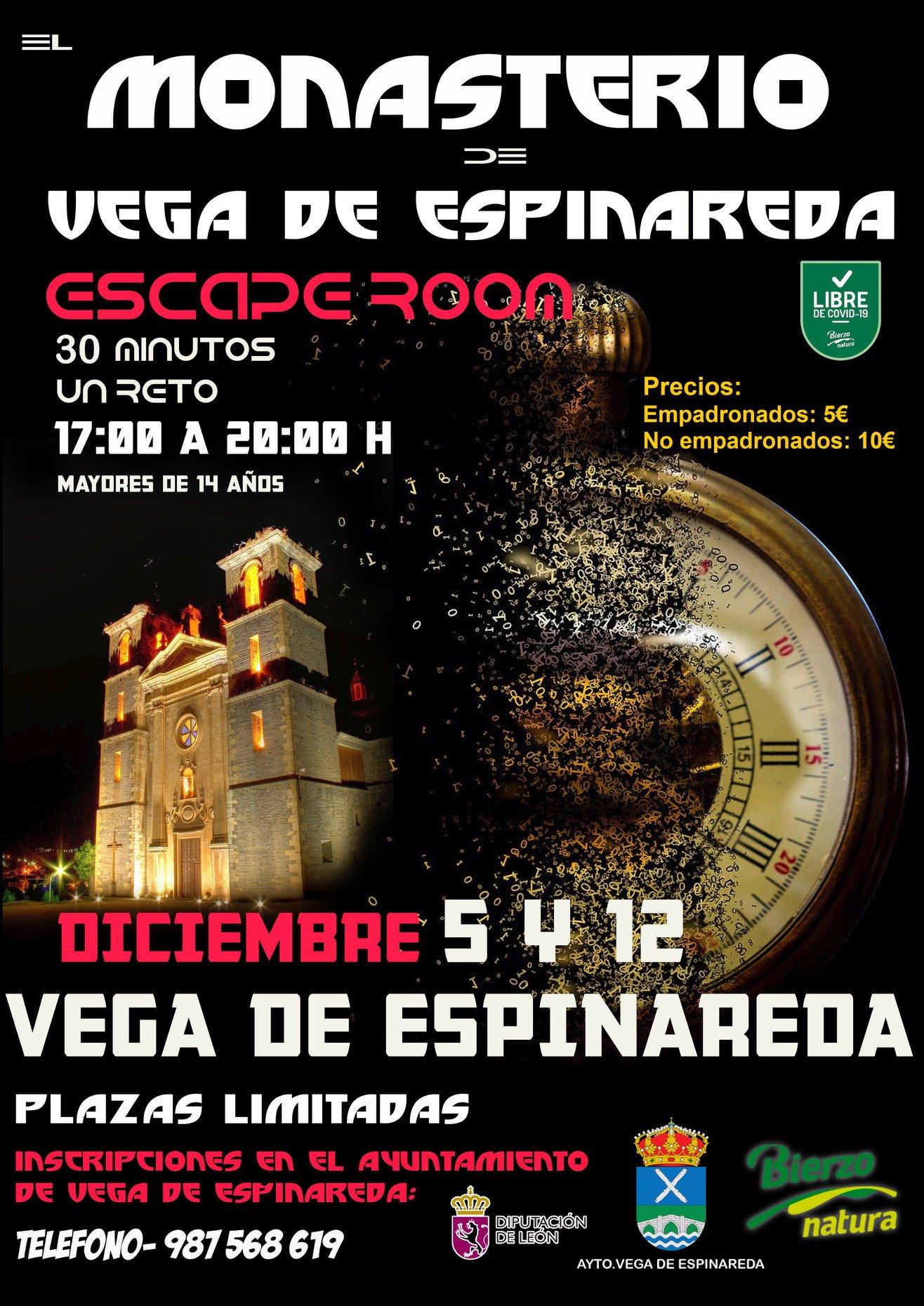 Scape Room en el Monasterio de Vega de Espinareda