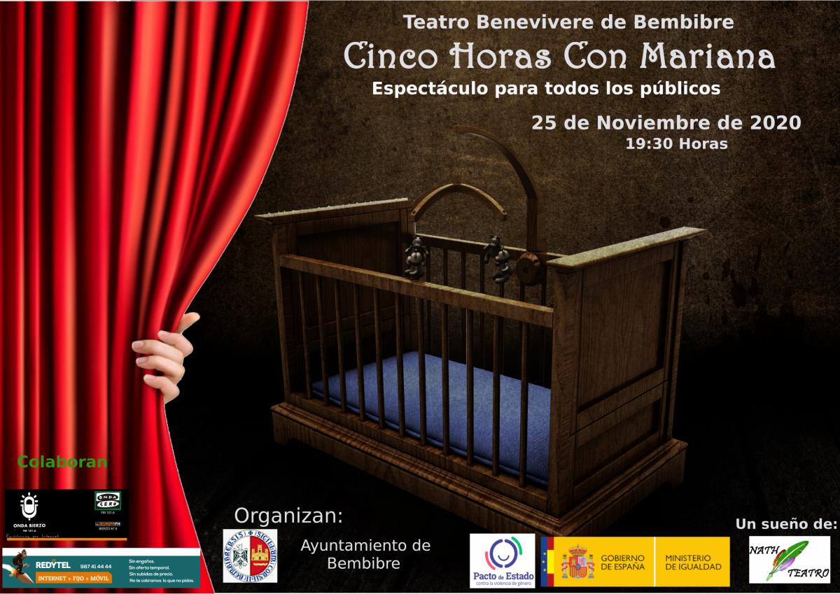 La obra 'Cinco horas con Mariana' el 25 de noviembre en el Teatro benevivere 1