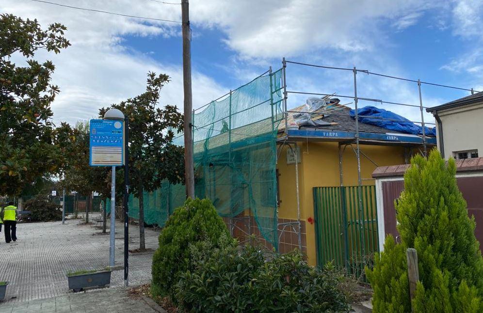 Columbrianos estrena techo en el edificio de usos múltiples 1