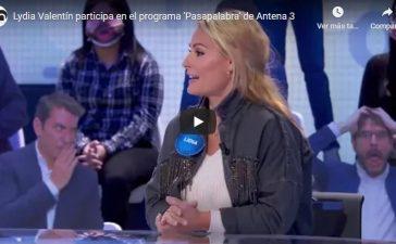VÍDEO   Lydia Valentín participa esta tarde en el programa 'Pasapalabra' de Antena 3 1
