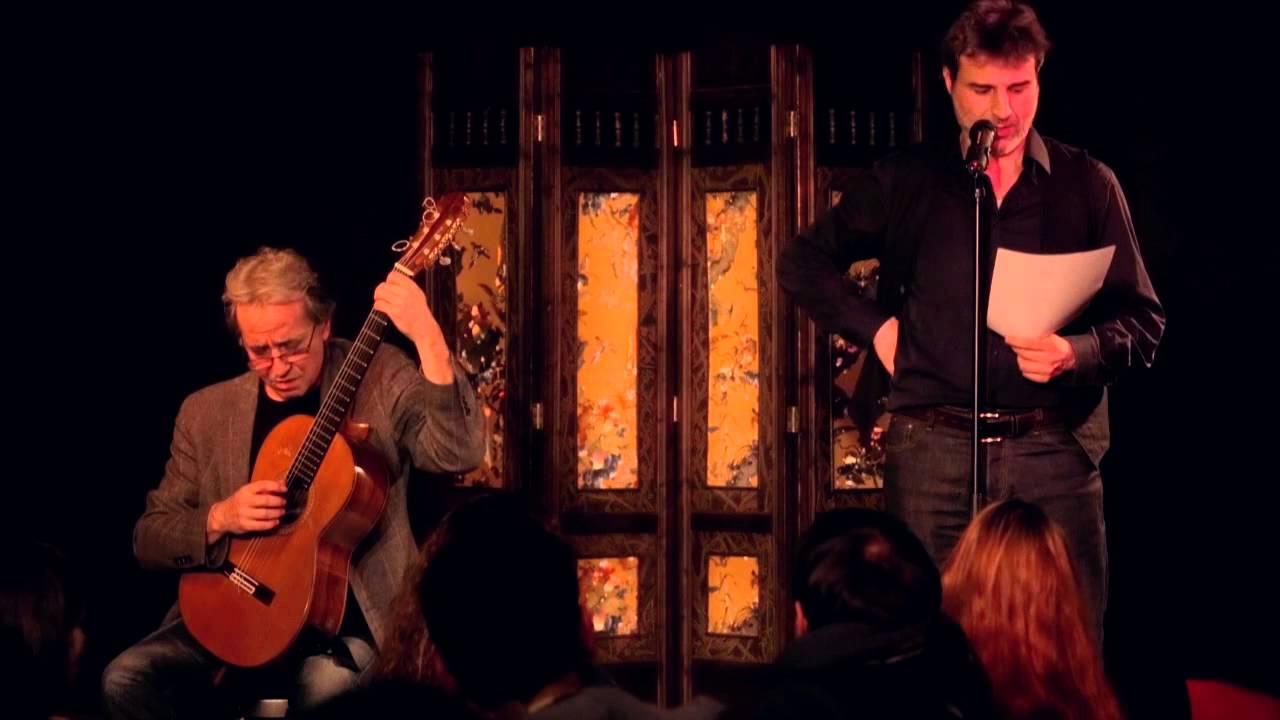 Fernando Egozcue y el actor Alberto San Juan en el XXXI Festival Internacional de Guitarra de Ponferrada Festing 1