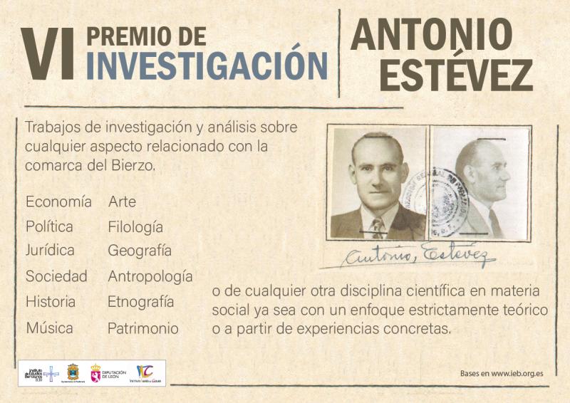 Santiago Macías y María Balado, primer premio y accésit, respectivamente, del VI Premio de investigación Antonio Estévez 1
