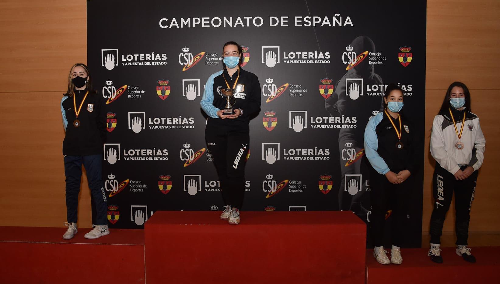 La bembibrense Ariadna Castro se proclama campeona de España de esgrima 1