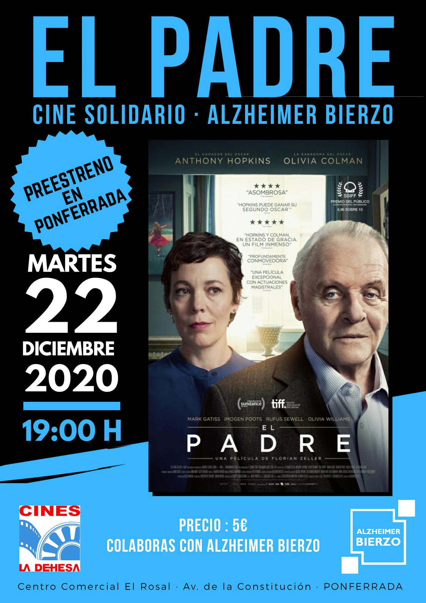 Alzheimer Bierzo y los Cines la Dehesa organizan el preestreno de la película 'El Padre' el martes 22 1