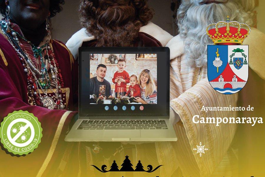 Videoconferencia con los Reyes Magos en Camponaraya 1