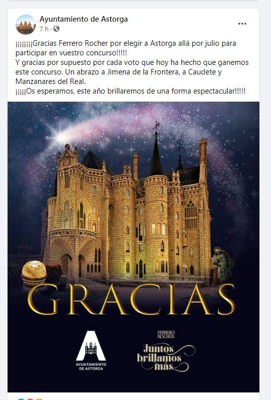 Astorga se alza ganadora y lucirá la iluminación navideña organizada por Ferrero Rocher 2