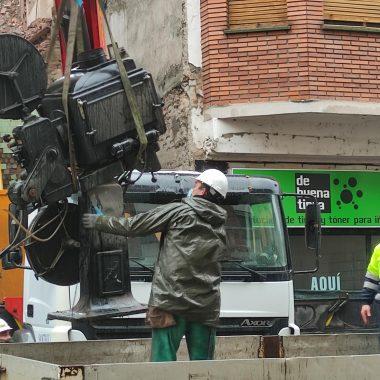VÍDEO Y FOTOS | Así se despidieron los dos proyectores de carbones del emblemático Cine Adriano 11