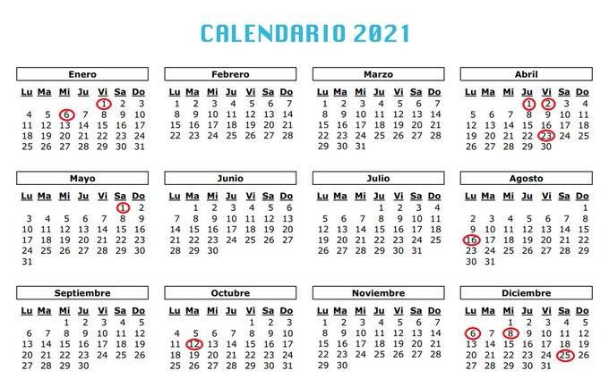 Calendario laboral 2021 en Castilla y León 2