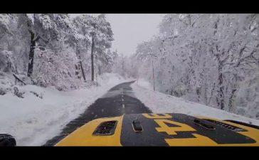 Jesús Calleja muestra en redes sociales el complicado descenso de Foncebadón a Ponferrada entre la nieve 2