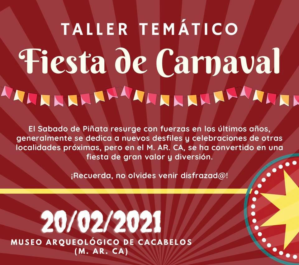 Taller Temático: FIESTA DE CARNAVAL - Sábado de piñata 1