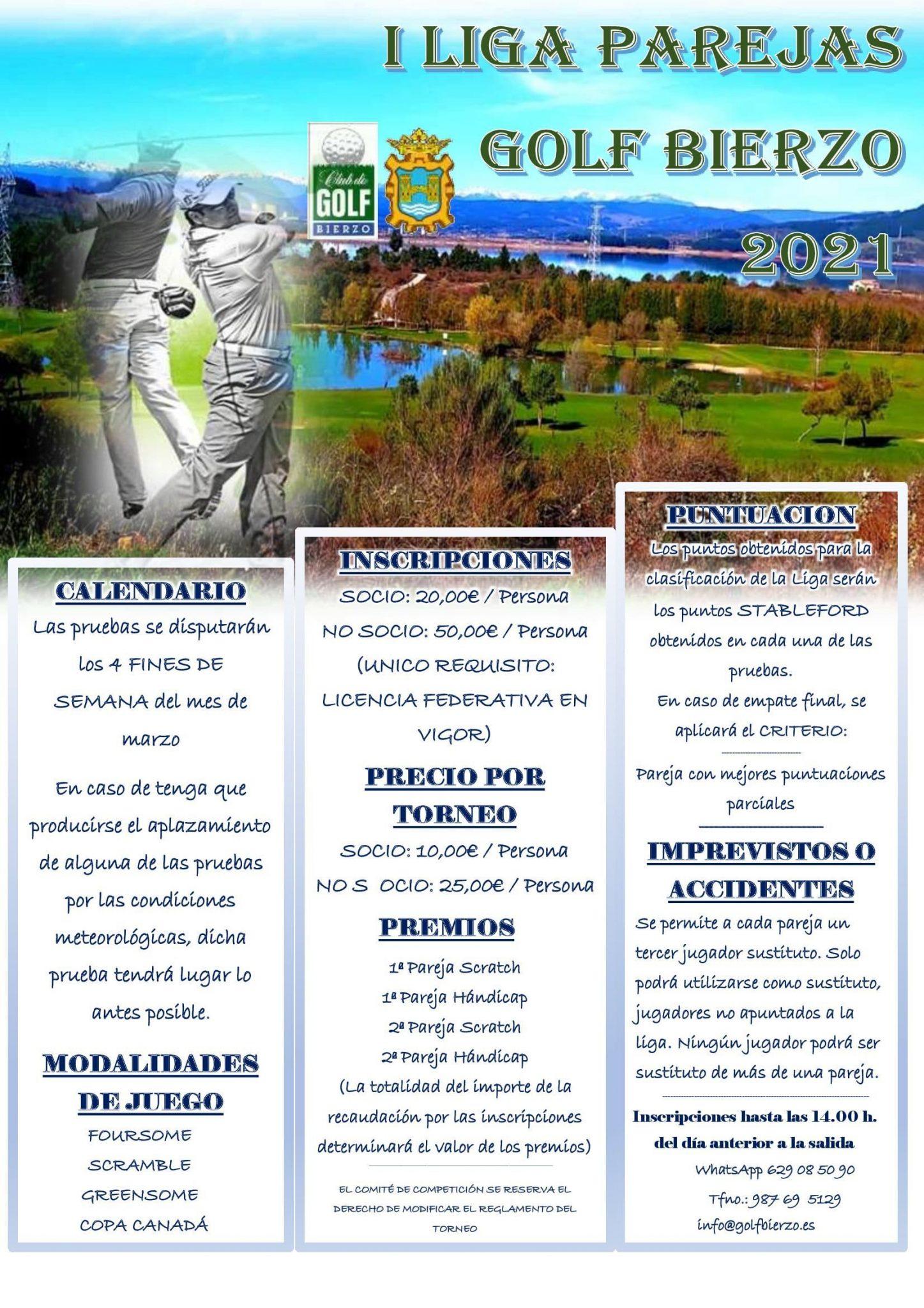Torneo de Golf por parejas durante los fines de semana del mes de marzo 2