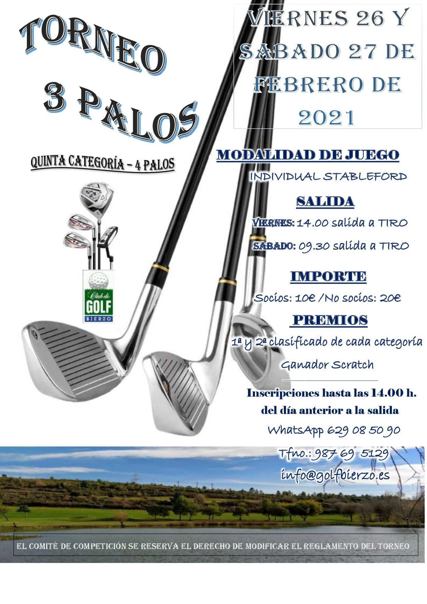 Torneo de golf 3 palos en el Club de Golf Bierzo 2