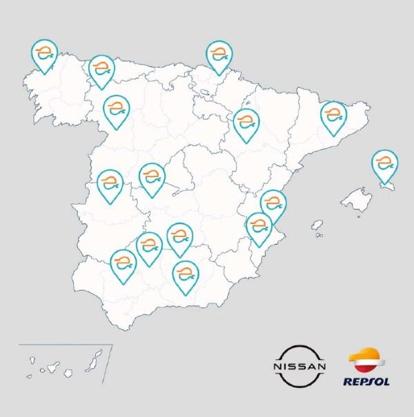 Ponferrada tendrá nuevos puntos de recarga para coches eléctricos gracias a un acuerdo entre Repsol y Nissan 2