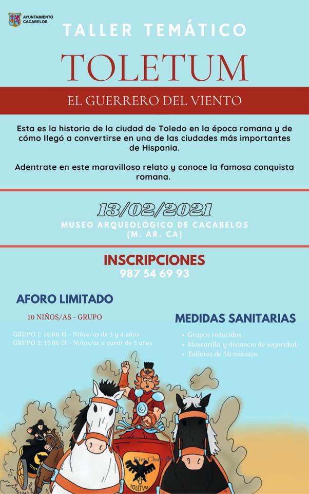 El museo Marca de Cacabelos organiza este sábado un nuevo taller temático : TOLETUM - El guerrero del viento 2