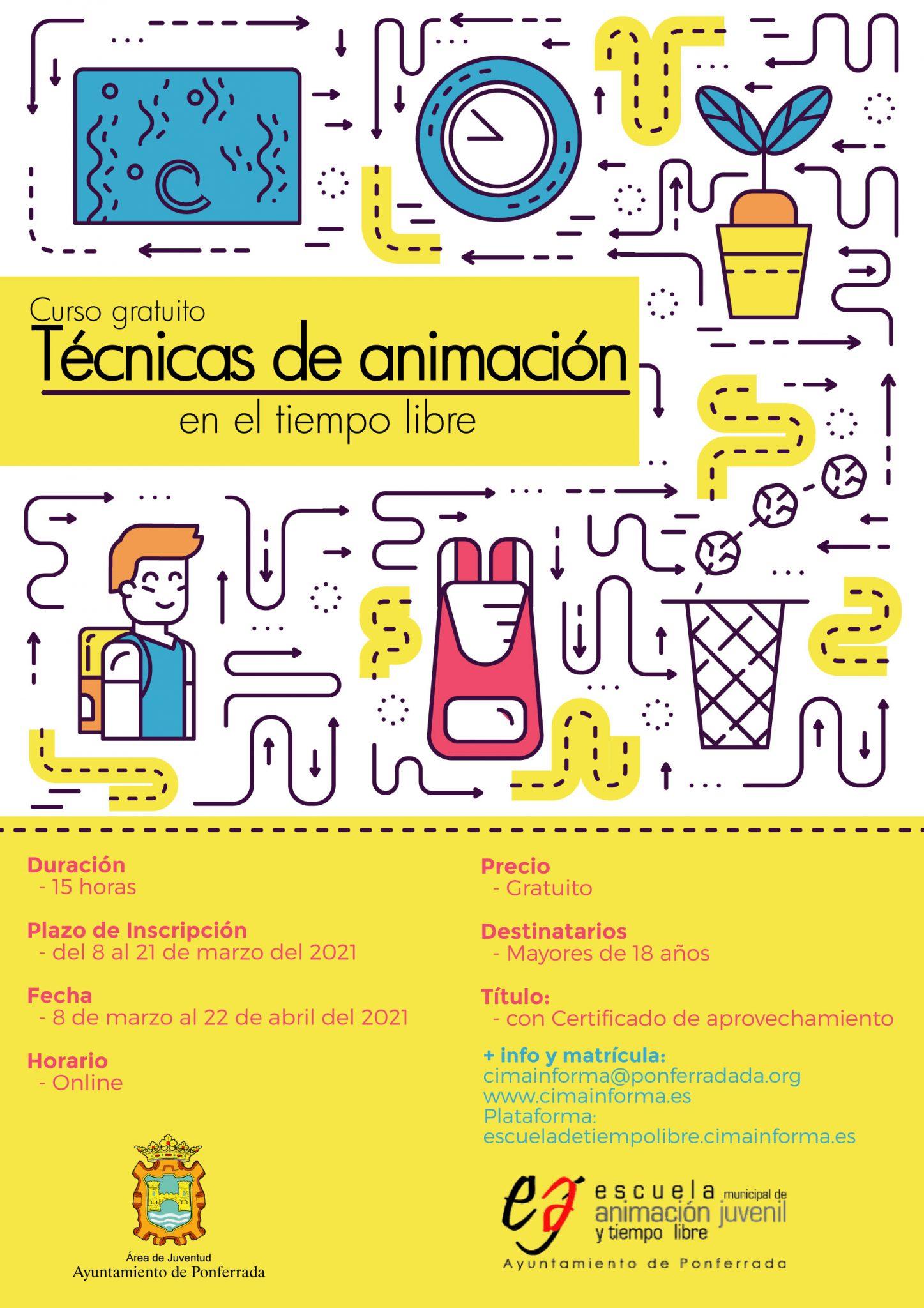 Curso de técnicas de animación en el Tiempo Libre organizado por el Ayuntamiento de Ponferrada 2