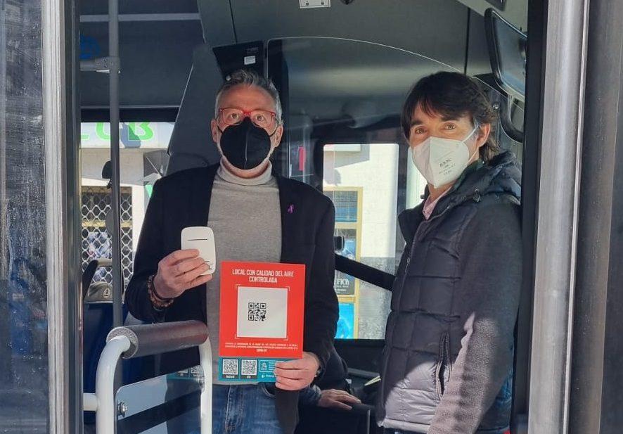Se instalan medidores de CO2 en los Autobuses de la SMT para evitar la trasmisión del coronavirus 1