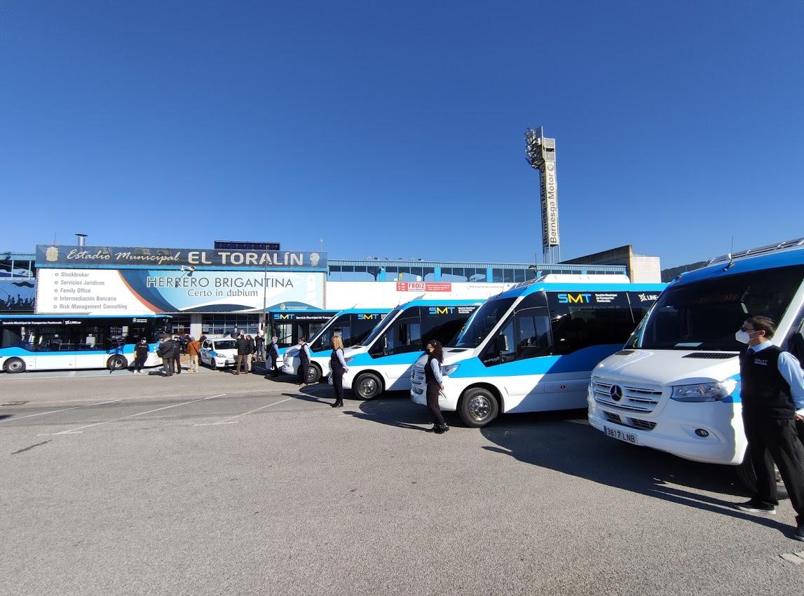 Los autobuses 'blanquiazules' del nuevo Servicio Municipal de Transporte de Ponferrada, inician su andadura 5