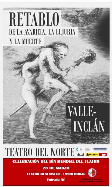 """Teatro """"Retablo de la avaricia, la lujuria y la muerte"""" el domingo en el Benevivere 2"""