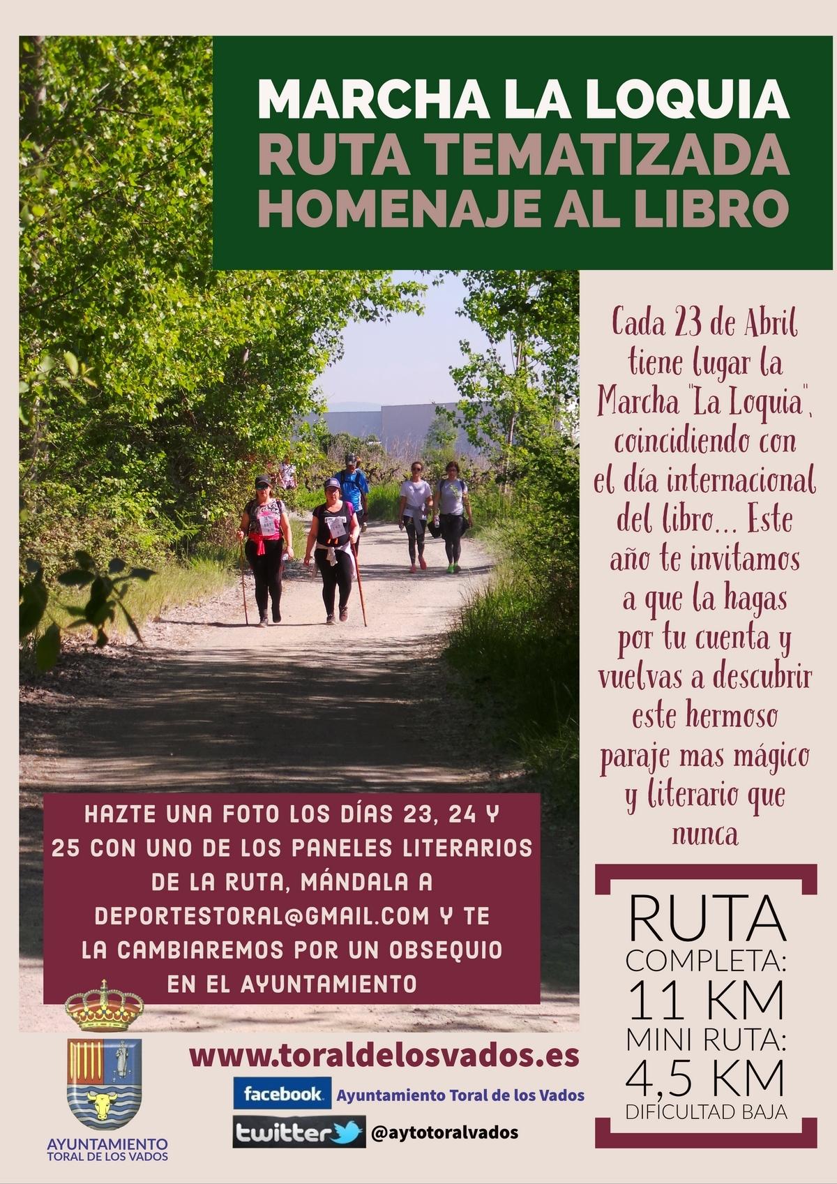 Toral de los Vados propone durante este fin de semana una 'Marcha La Loquia' sin aglomeraciones y que homenajea al libro 2