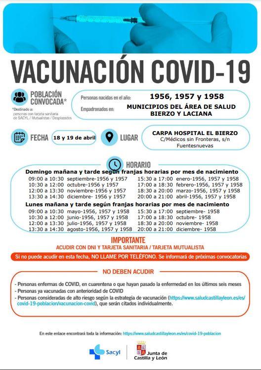 Sanidad llama a lo largo del domingo y el lunes a una vacunación masiva de los nacidos en 1956, 1957 y 1958 2