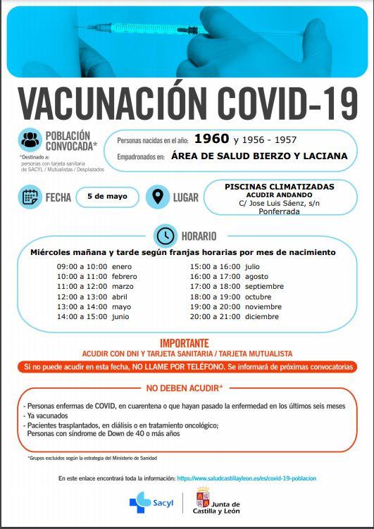 Nueva vacunación masiva en Ponferrada para los nacidos en 1960 y 1961 del área sanitaria del Bierzo y Laciana 2