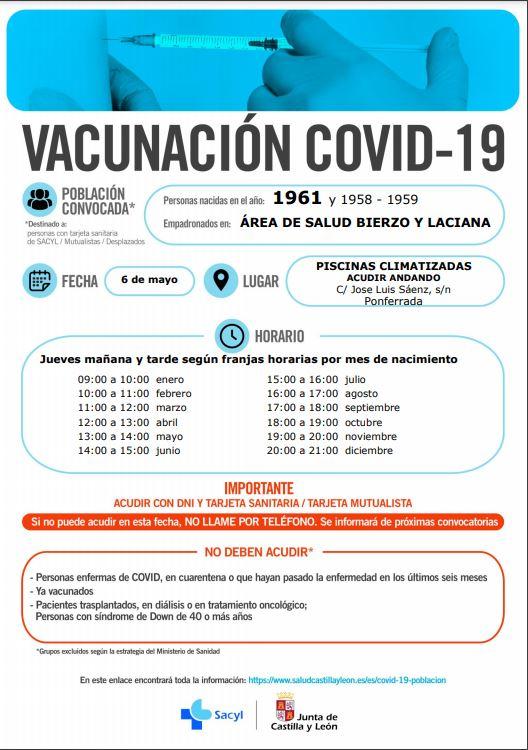 Nueva vacunación masiva en Ponferrada para los nacidos en 1960 y 1961 del área sanitaria del Bierzo y Laciana 3