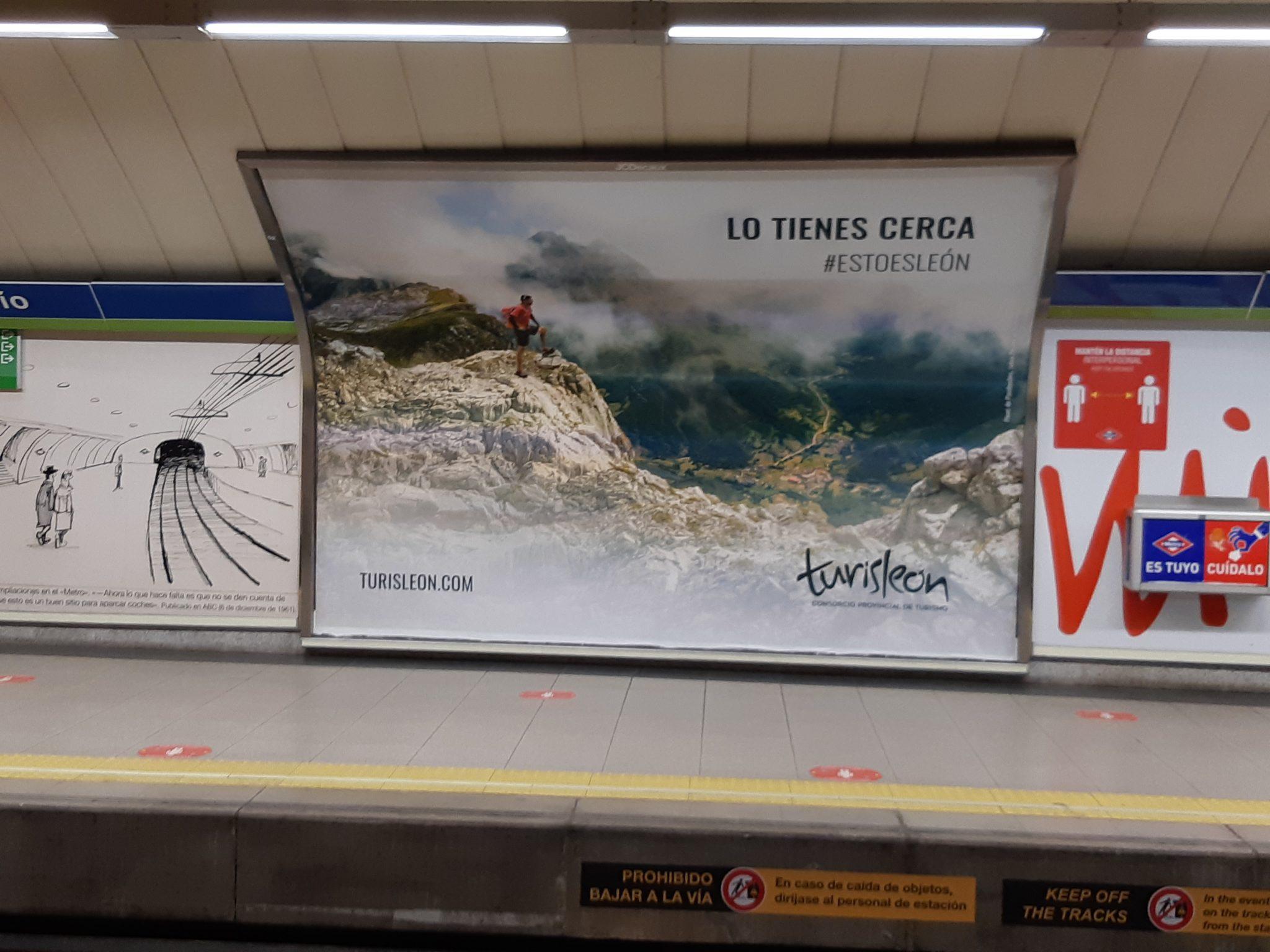 León se promociona bajo tierra en Madrid 1