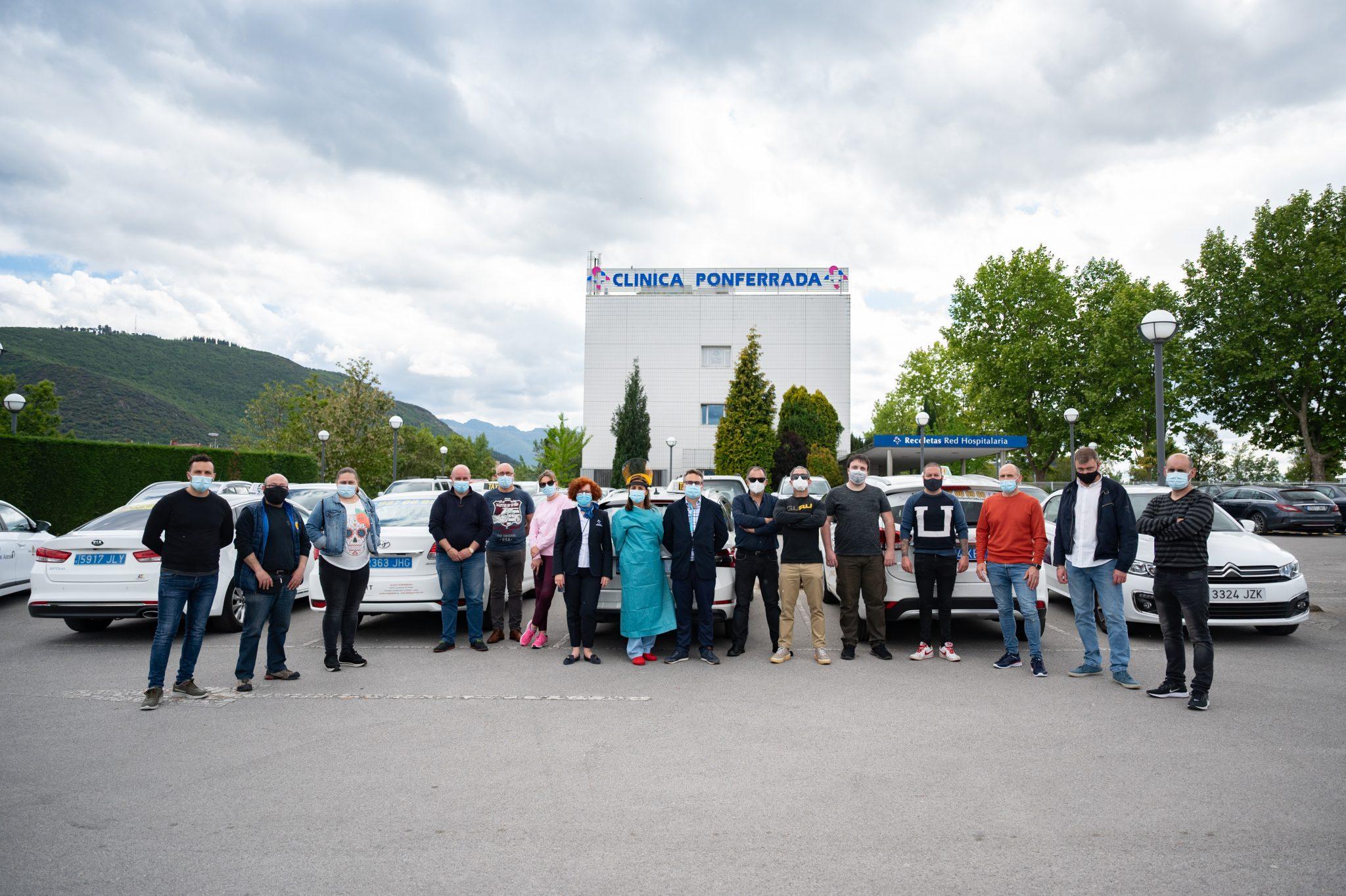 La campaña Más salud, más Bierzo de la Clínica Ponferrada lleva a cabo un cribado de antígenos a los taxistas 1