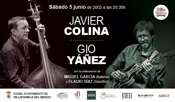 El ciclo de conciertos Binomios trae el mejor jazz a Villafranca con Javier Colina y Gio Yáñez 1