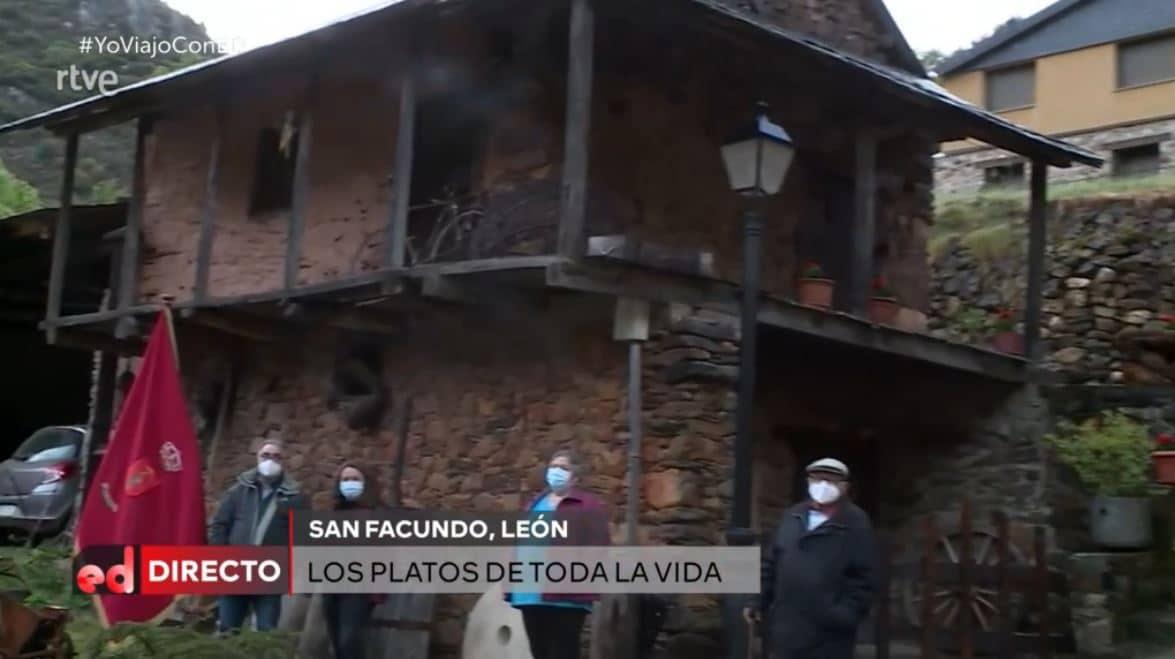 El chef Sergio Fernández interviene en directo desde San Facundo para anunciar su nueva sección en 'España Directo' 2