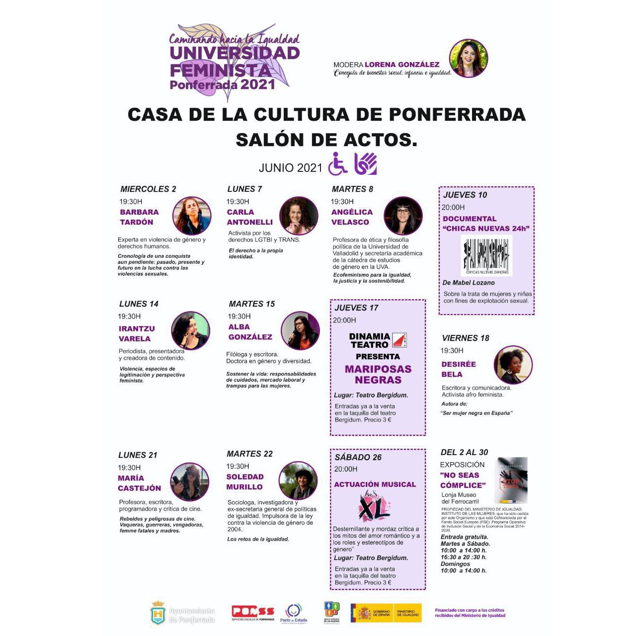 Ponferrada pone en marcha la segunda edición de la Universidad Feminista 2