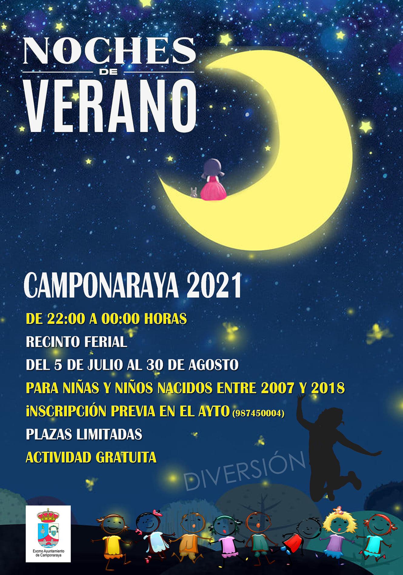 Camponaraya propone actividades para los más jóvenes en las Noches de verano 2