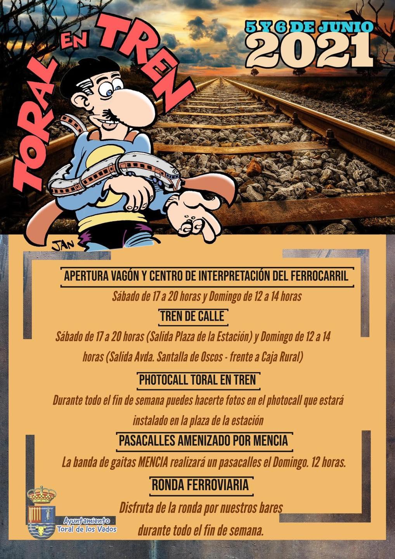 'Toral en tren 2021' vuelve a Toral de los Vados este fin de semana 2