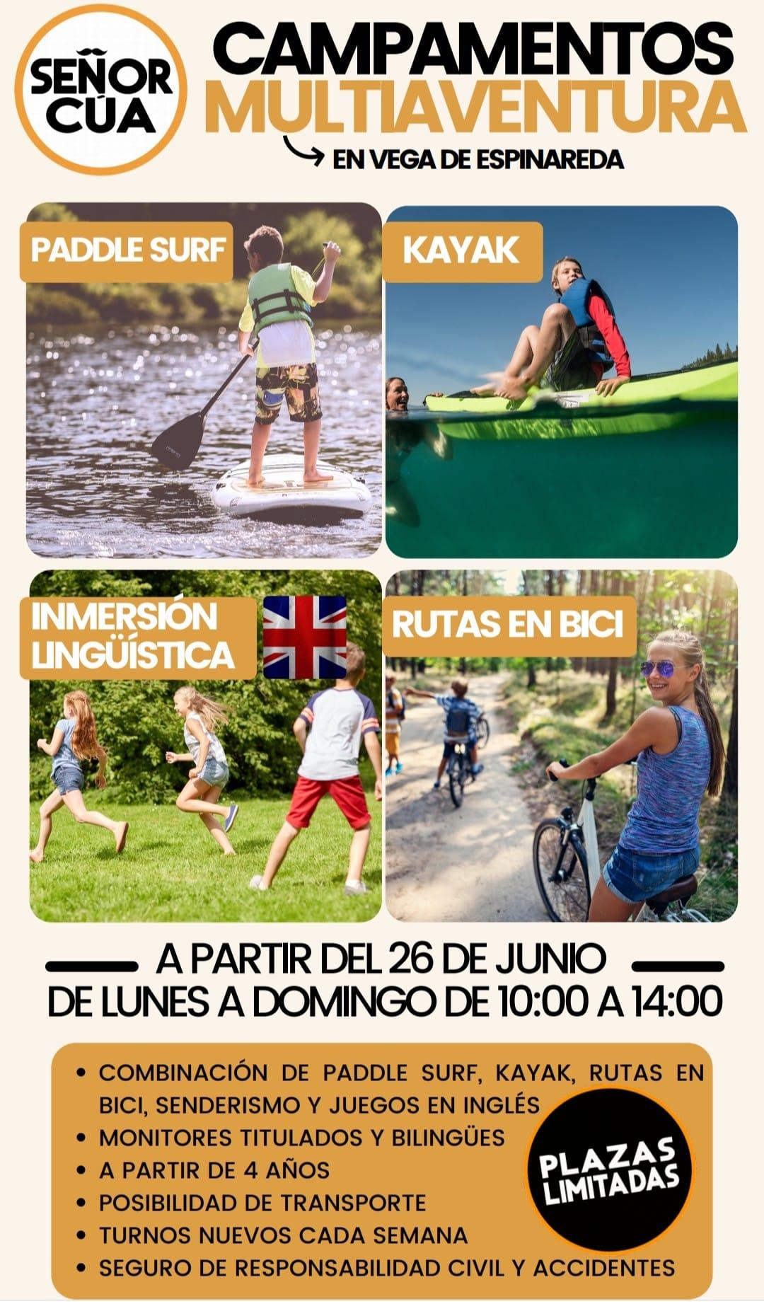 Campamentos multiaventura 2021 en Vega de Espinareda 2