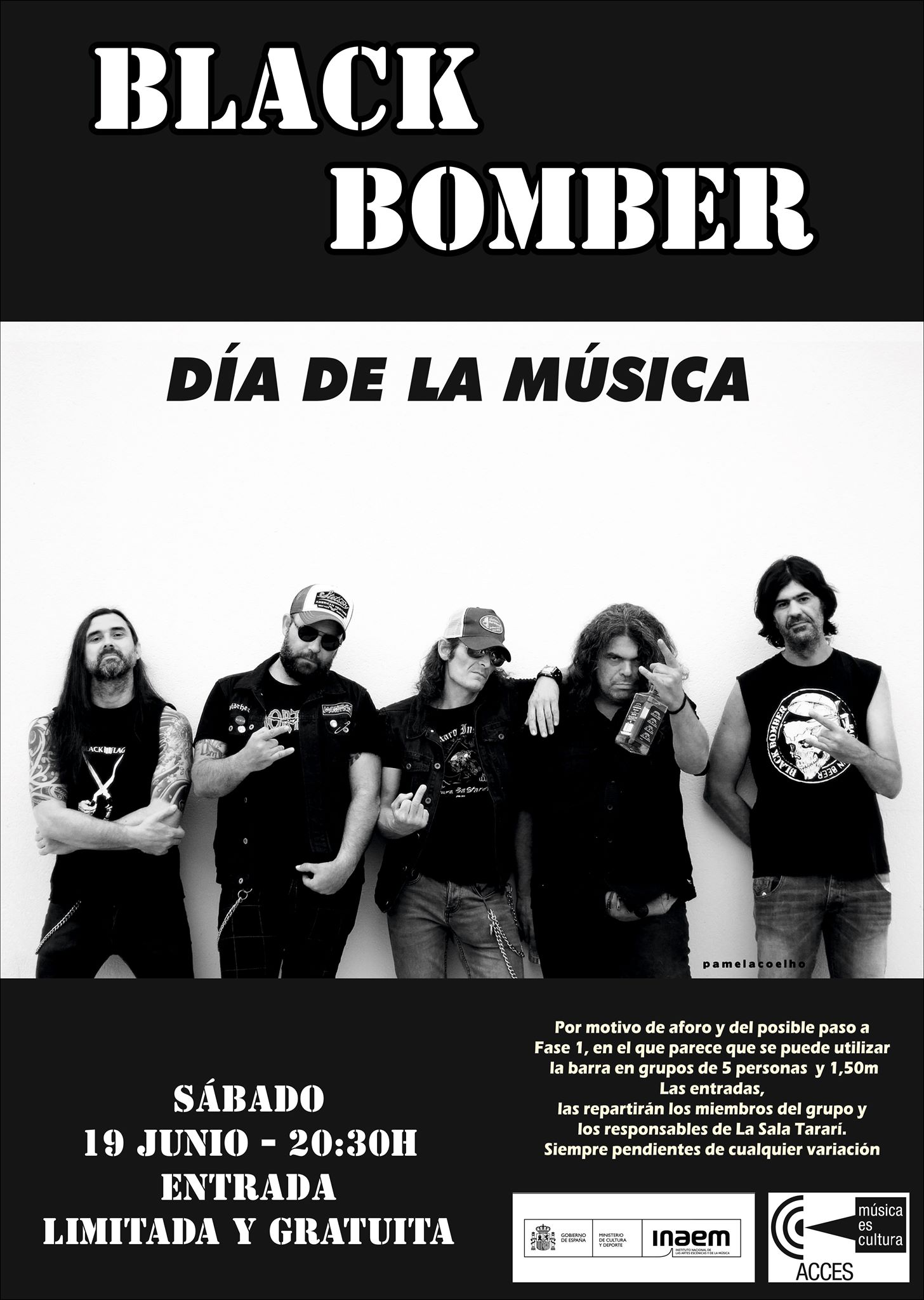La Sala Tararí inicia el paso hacia su nueva normalidad con un concierto de Black Bomber 3
