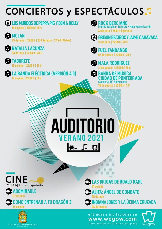 EL verano también será de cine en el Auditorio de Ponferrada 2