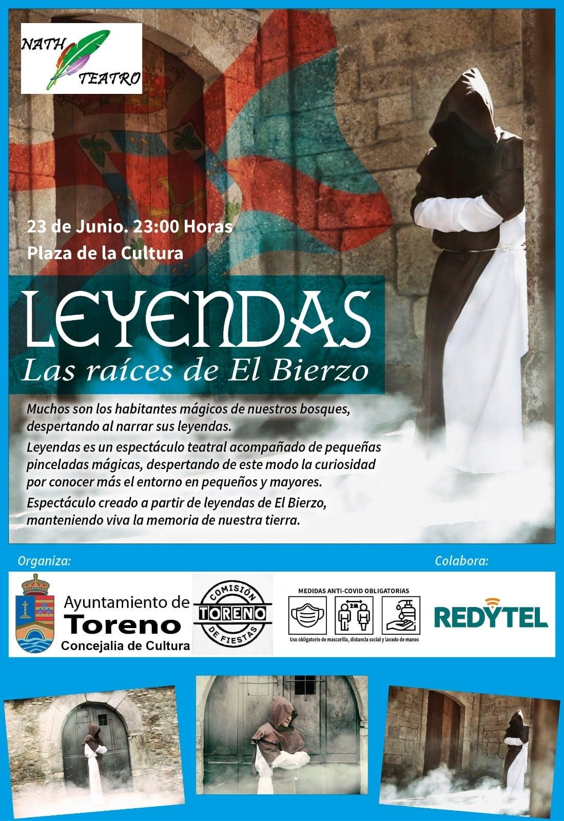 NATH Teatro presenta el espectáculo leyendas en Toreno la noche de San Juan 1