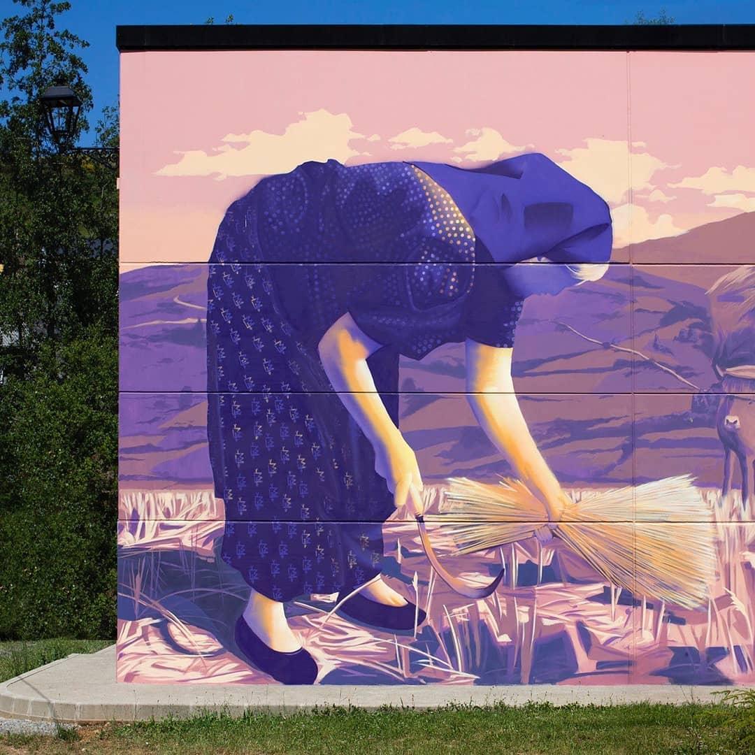 Quintana de Fuseros se llena de arte urbano de la mano de Street Air Bierzo 2